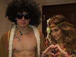 Peace & Love: Jennifer Lopez and boyfriend Casper Smart don matching hippie costumes as they celebrate Halloween in Germany