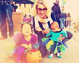 Katherine Heigl takes daughters Naleigh and Adalaide out trick or treating