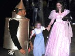 Wizard family: Ben Affleck went trick or treating with his family at the Malibu Colony beach houses on Wednesday