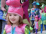 Magical Halloween: Alyson Hannigan and her husband Alexis Denisof took their daughters trick or treating and all went as seahorses