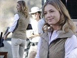 Shooting party: Emily VanCamp gets back into her hard-hitting Revenge character as films new season