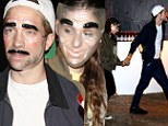 Twilight pair Robert Pattinson and Kristen Stewart spotted hand in hand as they go incognito in transparent masks at Halloween party