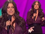 What a way to make an entrance! Khloe Kardashian exposes her nipple in a sheer blouse as she hosts her very first live X Factor USA show