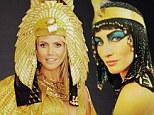 Supermodel face-off! Gisele Bundchen and Heidi Klum both turn into Cleopatra for Halloween