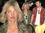 Minka Kelly turns blonde bombshell in animal print... but boyfriend Chris Evans' Halloween outfit is far from wild