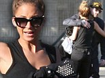 Have a good day honey! Cute couple Nicole Richie and Joel Madden share a cuddle as rocker drives his wife to work