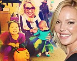 Katherine Heigl tweets about trick or treating in Park City Utah with daughters Adalaide and Naleigh