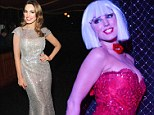 Kelly Brook poses at a curtain call after her first performance of a run of shows with Forever Crazy