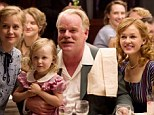 A feast of hammy acting: Hoffman as Lancaster and Amy Adam as his wife (far left) with fellow cult members Lorelai Hoey, Philip Seymour and Ambyr Childers in The Master