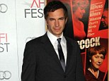 Star of the show: James D'Arcy was the most well-known face at tonight's AFI gala showing of new film Hitchcock