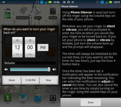 Phone Silencer android app