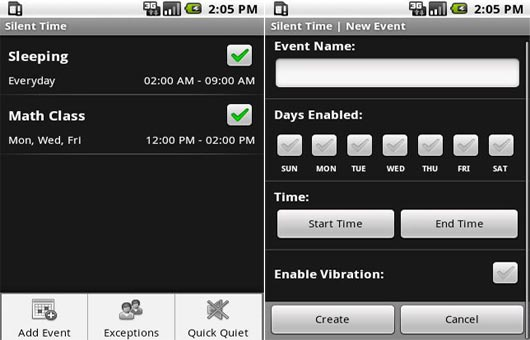 Silent Time android app