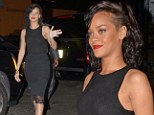 Grown-up Rihanna turns demure for awards ceremony... but manages to flash her bra in see-through top