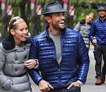 Kelly Ripa and Mark Consuelos are seen on the Upper East Side at Streets of Manhattan