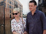 Forced out: The new apartment belonging to Michelle Williams, Jason Segel and Matilda, pictured in August, has been damaged in Superstorm Sandy
