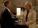 Villain: Daniel Craig, left, and Javier Bardem (right), who plays Raoul Silva, one of the finest arch-enemies in the 50-year history of Bond films