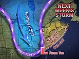Next week's weather: Another stome is likely to hit the East Coast next week - possible on Election Day