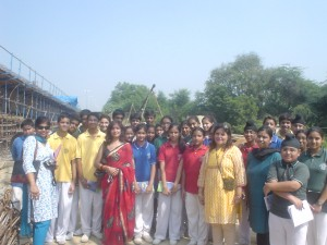 Me (Red Saree) & The School Group