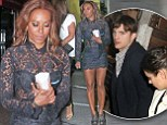 Mel B joins Ashton Kutcher for dinner