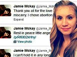 'I did not miscarry. I chose abortion': 16 and Pregnant star Jamie McKay makes shocking confession on Twitter