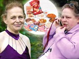 Philippa Popham, 49, who ballooned to a size 36 on a daily diet of 17,000 calories
