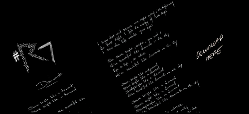 #Diamonds #lyrics ——-> http://www.rihanna7.com/ I wrote those. Bit proud right now. Melody too. Writing pop is the best job ever. Music and production by the exceptional Stargate and Benny Blanco 7 hours 20 minutes duders! I'm so excited!