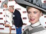 Her knight in shining armour! Celebrity chef rushes to Nicole Kidman's aid after she suffers shoe malfunction at horse race