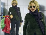 Sleepless in New York! Meg Ryan's daughter Daisy looks tired as they arrive for flight