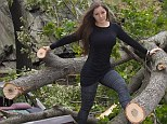 Provocative: Brazilian model Nana Gouvea has been criticised for posing for photographs in storm-hit New York