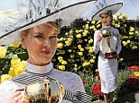 The Grace of Monaco star led the fashion parade on Saturday in her stunning design at Derby Day held at Flemington Racecourse in Melbourne, Australia.