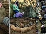 Andrew Robertshaw built a 60ft trench in his back garden to highlight the plight of WWI soldiers