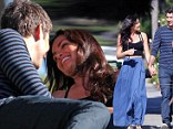 Bachelor winner Courtney Robertson and Bachelorette reject Arie Luyendyk Jr. share a romantic day out in Venice, CA