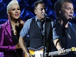 Christina Aguilera leads the celebrity performances at star-studded TV telethon to help the victims of Superstorm Sandy