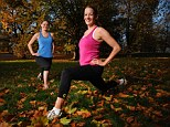 Active: Mail on Sunday reporters Helen Loveless, right, and Vicki Owen try out the new Zagorra sports wear which improves body temperature