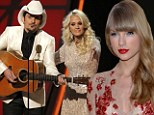 'They're Never Ever Getting Back Together': Taylor Swift subject of ridicule as Carrie Underwood and Brad Paisley joke about Connor Kennedy split at CMAs
