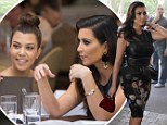 Another day, another leather look! Kim Kardashian continues her racy streak for lunch with Kourtney