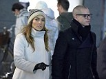 So in love: Jennifer Lopez and Casper Smart stepped out for a romantic stroll in Copenhagen on Friday