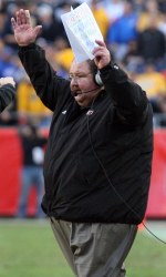 Mark Mangino finished his KU coaching career with a 50-48 record in eight seasons.