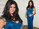 Putting her baby bump on display! Imogen Thomas steps out in another figure hugging dress as she attends awards gala