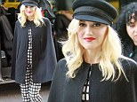 Gwen Stefani steps out in London looking ever so fashionable in a cool black cape