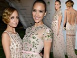 March of the magnificent moms: Jessica Alba and Nicole Richie are beaded beauties as they lead celebrity mothers at gala
