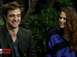 Happy and relaxed: Robert Pattinson and Kristen Stewart laughed and joked their way through what could have been an awkward first televised interview on MTV News on Thursday since the affair scandal