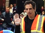 Ben Stiller doles out pancakes at New York shelter... as Alec Baldwin comforts students left homeless by Superstorm Sandy