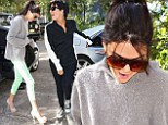 Shouldn't you be swapping shoes? Kendall Jenner steps out in sky-high stiletto's as mum Kris opts for sneakers