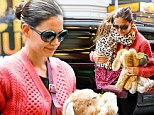 Weathering on after Sandy: Katie Holmes returns to work on Broadway with daughter Suri by her side