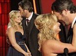 CMA Awards 2012: Miranda Lambert sobs as she and husband Blake Shelton accept Song of the Year gong for ballad he wrote about his brother's death