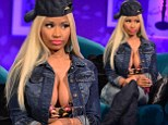 Nicki Minaj bulges out of her bra on Alan Carr's Chatty Man