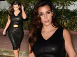 Maybe variety isn't the spice of life: Kim Kardashian steps out in ANOTHER leather ensemble