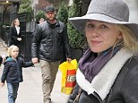 Must get on with it! Naomi Watts and Liev Schrieber stock up on supplies in New York following Superstorm Sandy
