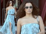 Eva Longoria shows her toyboy ex Mark Sanchez what he's missing by wearing a revealing dress to lunch in California